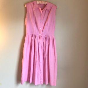 Vintage Pink Shirt Dress